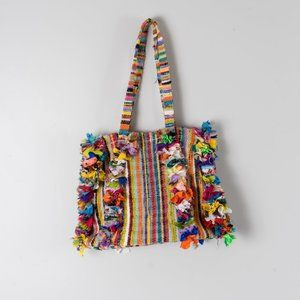 NWOT Recycled fabric bag  -- India